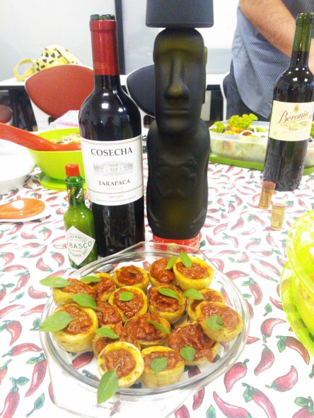 Patatas bravas vino y pisco